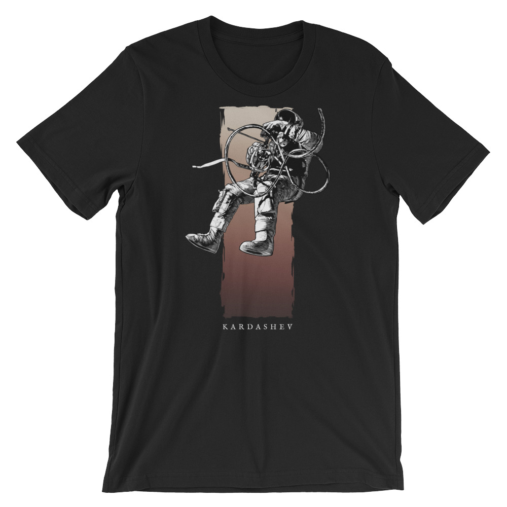 Umbra Astronaut on Black Premium Crew Neck