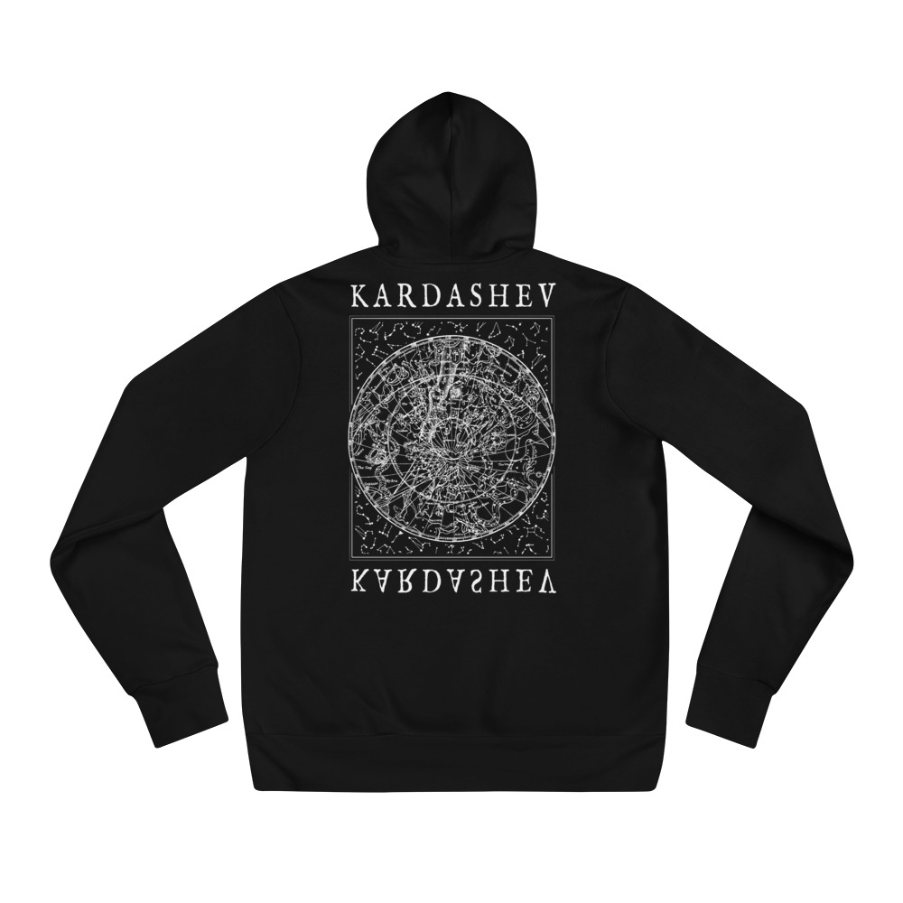 Starmap White on Black Premium Hoodie